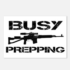 Busy Prepping Gun Postcards (Package of 8)