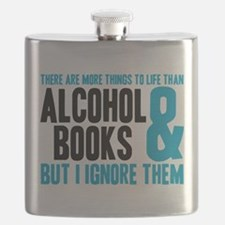 Funny Book lover Flask