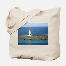 Lighthouse in the Bahamas Tote Bag