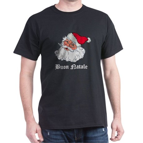 Italian Santa Black T-Shirt