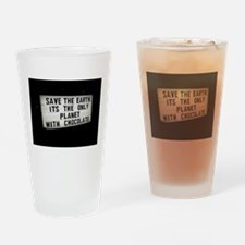 Save The Earth Chocolate Drinking Glass