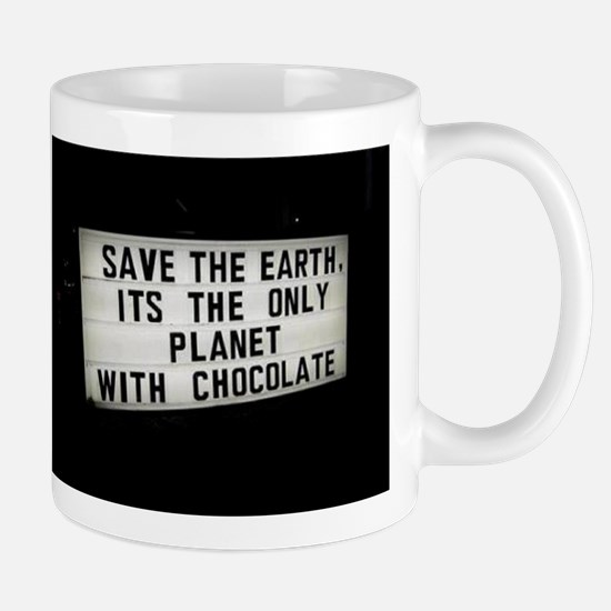 Save The Earth Chocolate Mug