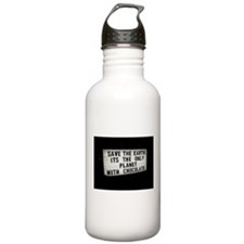 Save The Earth Chocolate Water Bottle