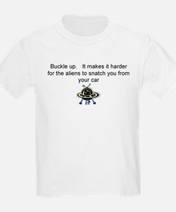 Buckle up - aliens are coming! T-Shirt