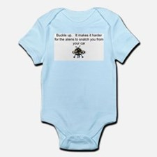 Buckle up - aliens are coming! Infant Bodysuit