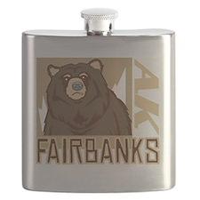 Fairbanks Grumpy Grizzly Flask