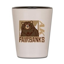 Fairbanks Grumpy Grizzly Shot Glass