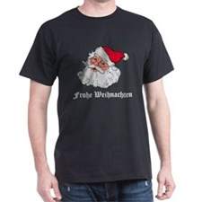 German Santa Black T-Shirt