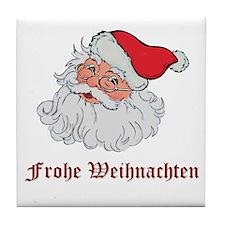 German Santa Tile Coaster