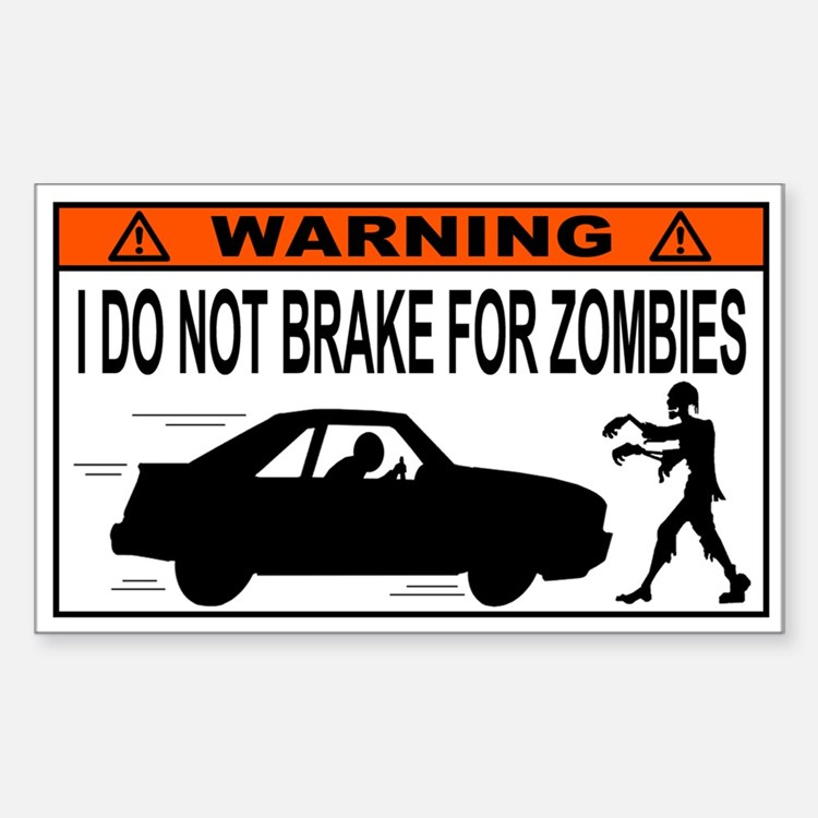 Zombie Apocalypse Bumper Stickers | Car Stickers, Decals ...