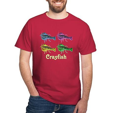 Colorful Crayfish Dark T-Shirt