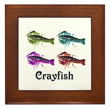 Colorful Crayfish Framed Tile