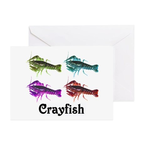 Colorful Crayfish Greeting Cards (Pk of 10)
