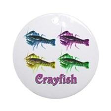 Colorful Crayfish Ornament (Round)
