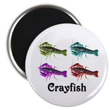 "Colorful Crayfish 2.25"" Magnet (10 pack)"