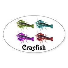 Colorful Crayfish Oval Decal