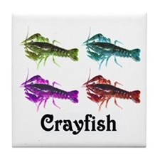 Colorful Crayfish Tile Coaster
