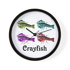 Colorful Crayfish Wall Clock