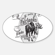 Fairbanks Vintage Moose Sticker (Oval)
