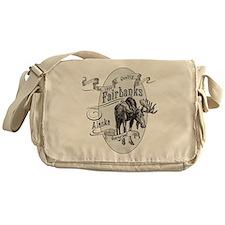 Fairbanks Vintage Moose Messenger Bag