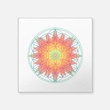 "Internal Sun Square Sticker 3"" x 3"""
