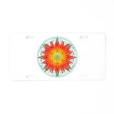 Internal Sun Aluminum License Plate
