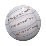 Volleyball Round Ornaments