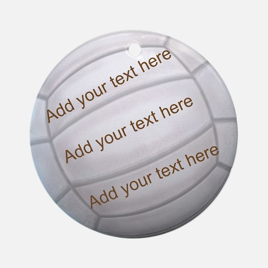 Beach Volleyball Round Ornament