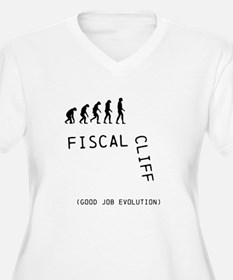 Fiscal Cliff (Good Job Evolution) T-Shirt