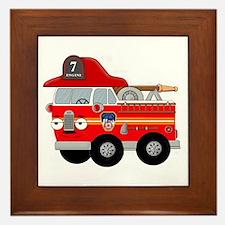 Fire Engine Seven Framed Tile