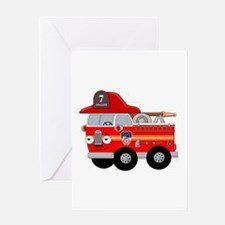 Coops Little Fire Engine Seven FDNY Greeting Card
