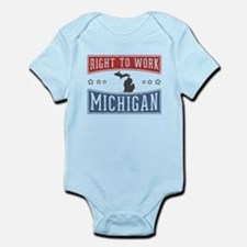Right To Work Michigan Infant Bodysuit