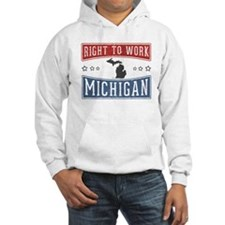 Right To Work Michigan Hoodie