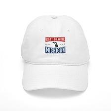 Right To Work Michigan Baseball Baseball Cap