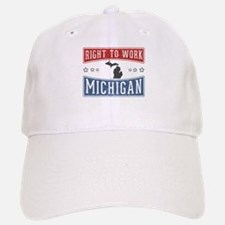 Right To Work Michigan Baseball Baseball Cap