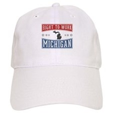 Right To Work Michigan Baseball Cap