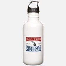 Right To Work Michigan Water Bottle