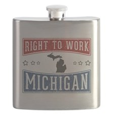 Right To Work Michigan Flask
