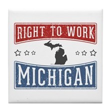 Right To Work Michigan Tile Coaster