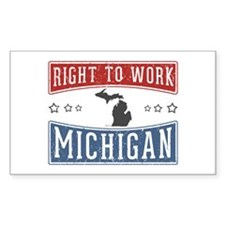 Right To Work Michigan Decal