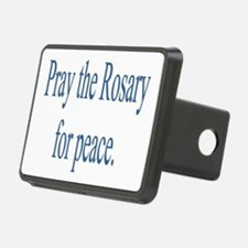 Rosary prayer for peace Hitch Cover