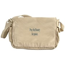 Rosary prayer for peace Messenger Bag