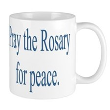 Rosary prayer for peace Small Mug