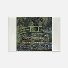 Monet Japanese Bridge Lilies Rectangle Magnet