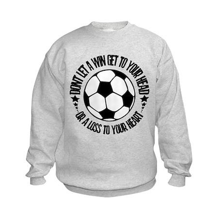 Soccer_AWin.psd Kids Sweatshirt
