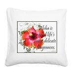 Aloha Fragrances Square Canvas Pillow