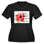Aloha Fragrances Women's Plus Size V-Neck Dark T-S
