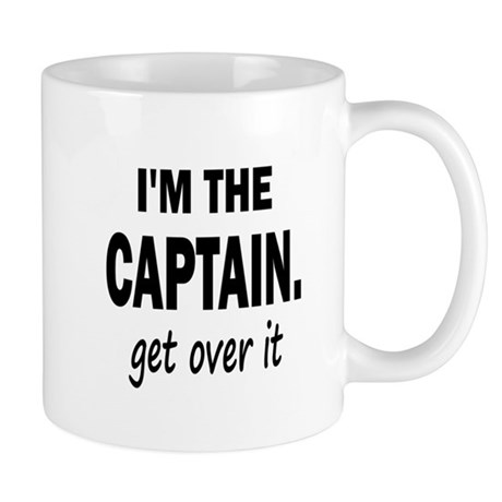 11X11 CENTERED IM THE CAPTAIN Mugs