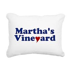 Martha's Vineyard with Heart Rectangular Canvas Pi