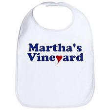 Martha's Vineyard with Heart Bib